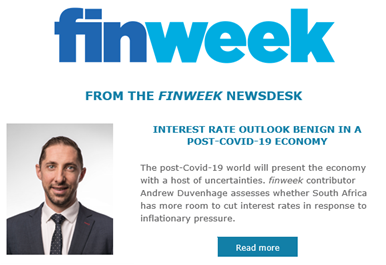 Andrew Duvenhage Finweek 24 April Newsletter