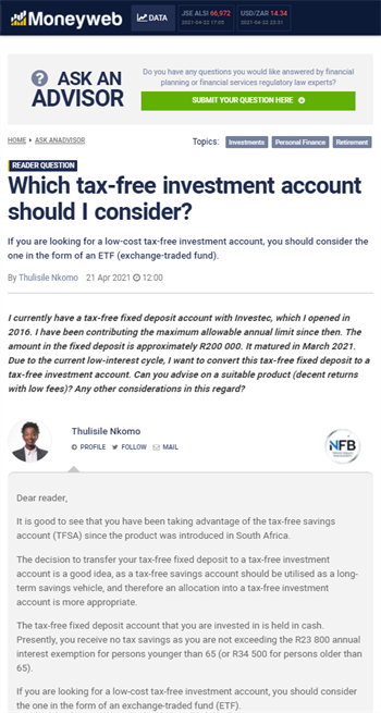 Which tax-free investment account should I consider